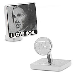 Star Wars™ Silver-Plated I Love You, I Know Cuffllinks