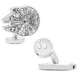 Star Wars™ Silver-Plated Millennium Falcon Blueprint Cufflinks