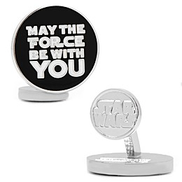Star Wars™ Silver-Plated May the Force Be With You Cufflinks
