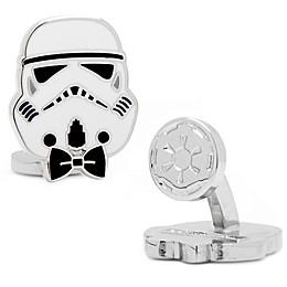 Star Wars™ Enameled Storm Trooper Style Cufflinks