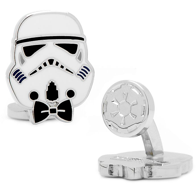 Alternate image 1 for Star Wars™ Enameled Storm Trooper Style Cufflinks