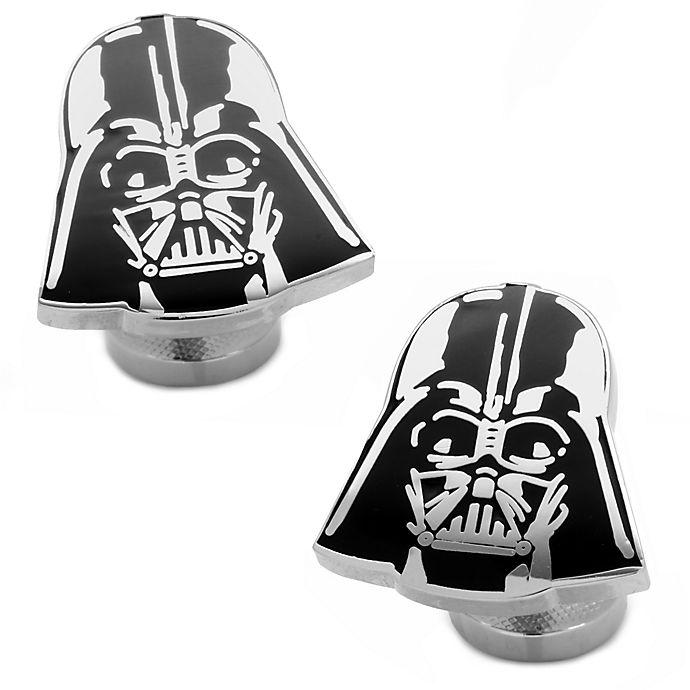 Alternate image 1 for Star Wars™ Silver-Plated Recessed Matte Black Darth Vader Cufflinks