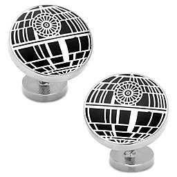 Star Wars™ Silver-Plated Recessed Matte Death Star Cufflinks