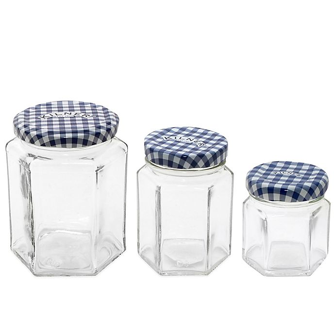 Alternate image 1 for Kilner® Glass Hexagonal Twist Top Jar