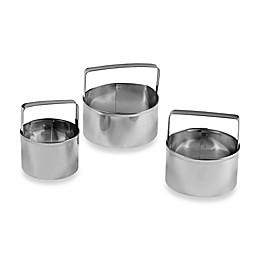 Fox Run® 3-Piece Round Biscuit Cutter Set
