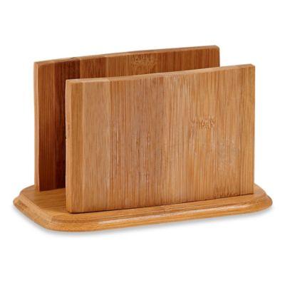 Home Basics® Bamboo Napkin Holder   Bed Bath & Beyond