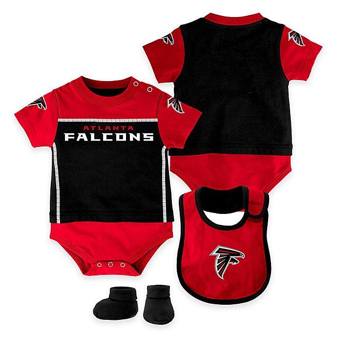 super popular 9612b 285cd NFL Atlanta Falcons Lil Jersey 3-Piece Creeper, Bib, and ...