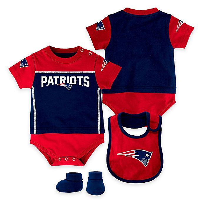 NFL New England Patriots Lil Jersey 3-Piece Creeper 3cea34950