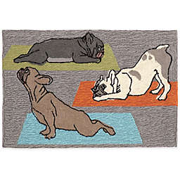 Trans-Ocean Yoga Dogs Accent Rug