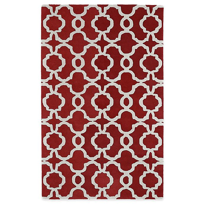 Alternate image 1 for Kaleen Revolution Trellis 5-Foot x 7-Foot 9-Inch Area Rug in Red