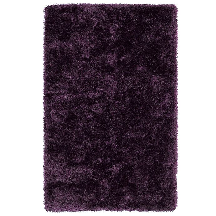 Alternate image 1 for Kaleen Posh 5-Foot x 7-Foot Shag Area Rug in Purple