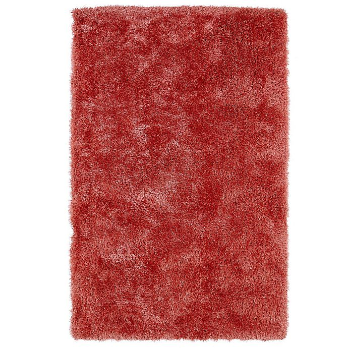 Alternate image 1 for Kaleen Posh 5-Foot x 7-Foot Shag Area Rug in Coral