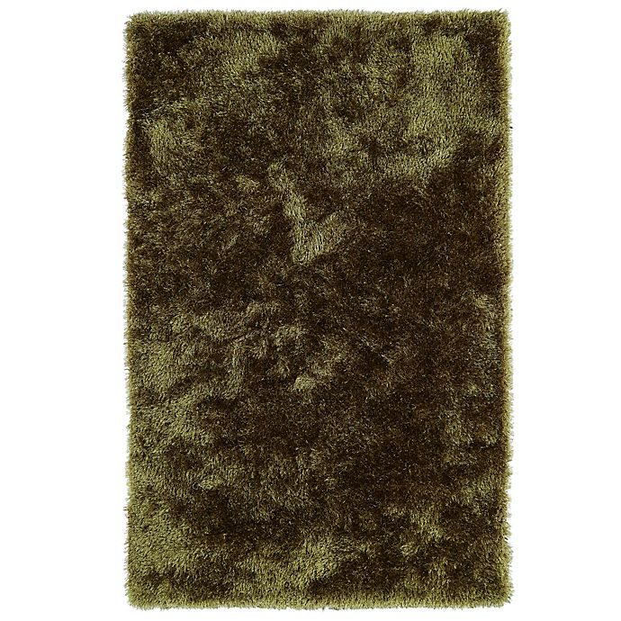 Alternate image 1 for Kaleen Posh 8-Foot x 10-Foot Shag Area Rug in Olive