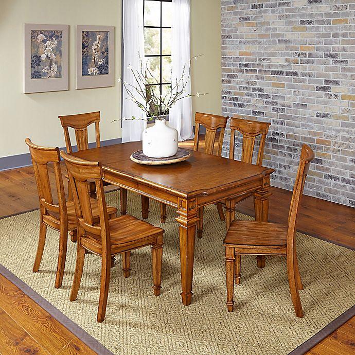 Monarch White Oak 7 Piece Dining Set: Home Styles Americana 7-Piece Dining Set In Oak