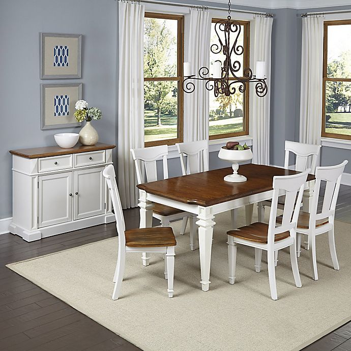 Monarch White Oak 7 Piece Dining Set: Home Styles Americana 7-Piece Dining Set With Buffet In