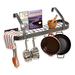 Enclume® Elite Bookshelf Hammered Steel Pot Rack
