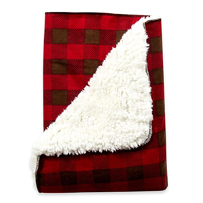 Alternate image 1 for Trend Lab® Northwoods Receiving Blanket in Buffalo Check