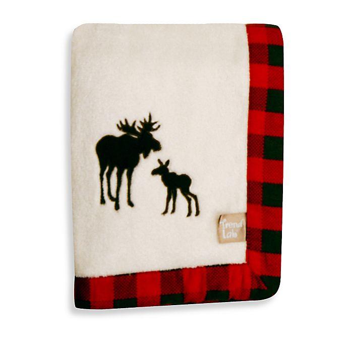 Alternate image 1 for Trend Lab® Northwoods Moose Receiving Blanket