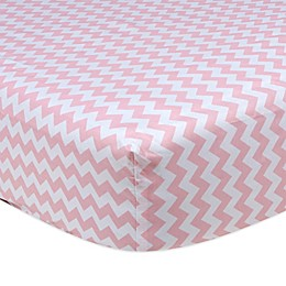 Trend Lab® Pink Sky Fitted Crib Sheet in Chevron