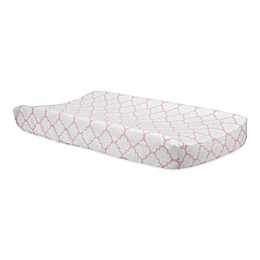 Trend Lab® Pink Sky Quatrefoil Changing Pad Cover