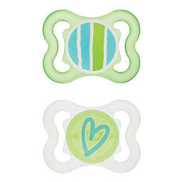 MAM Mini Air 0-6M 2-Pack Pacifiers in Green