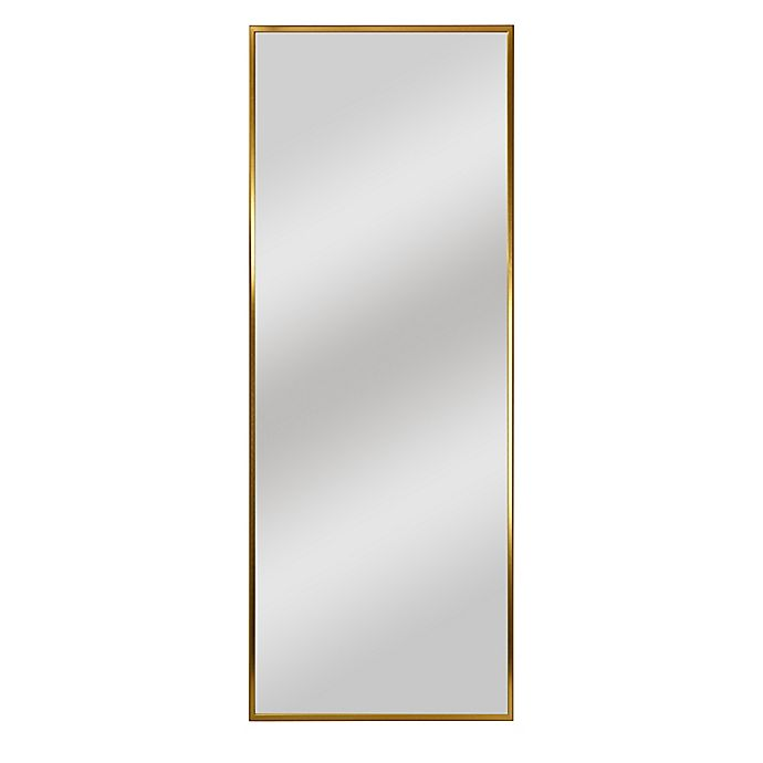 Alternate image 1 for 64-Inch x 21-Inch Wide Frame Rectangular Floor Mirror