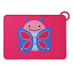 SKIP*HOP® Zoo Reusable Butterfly Fold & Go Silicone Placemat