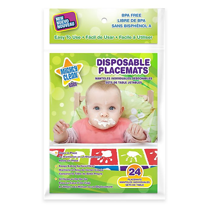 Alternate image 1 for Mighty Clean Baby™ 24-Pack Disposable Placemats