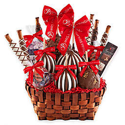 Mrs. Prindables Holiday Premium Festive Deluxe Caramel Apple Basket Gift Set