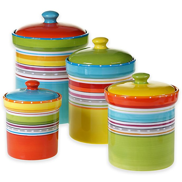 Alternate image 1 for Mariachi 4-Piece Canister Set in Multi
