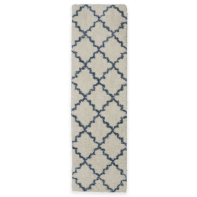Alternate image 1 for Mohawk Vale 2-Foot x 7-Foot Rug in Birch/Blue
