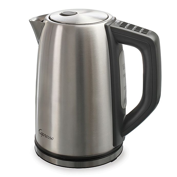 Alternate image 1 for Capresso® H2O Steel PLUS Electric Water Kettle