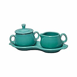 Fiesta® Sugar and Creamer Set with Tray in Turquoise