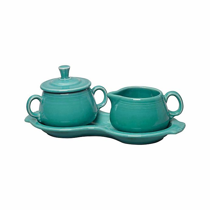 Alternate image 1 for Fiesta® Sugar and Creamer Set with Tray in Turquoise