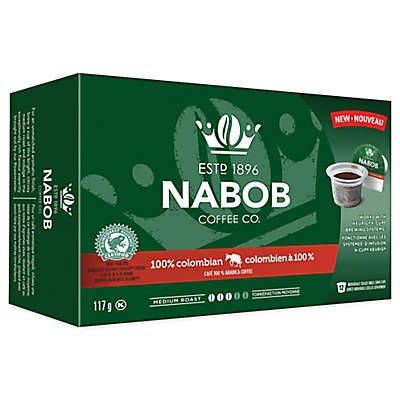 12-Count NABOB Coffee Co. 100% Colombian for Single Serve Coffee Makers