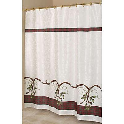 "Lenox® Holiday Nouveau 70"" x 72"" Fabric Shower Curtain"