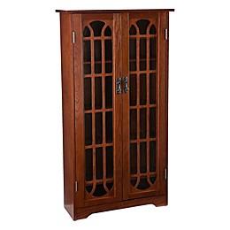 Southern Enterprises Wood Grayson Window Pane Media Cabinet