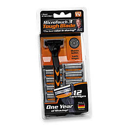 MicroTouch Tough Blade Razor with 12 Cartridges