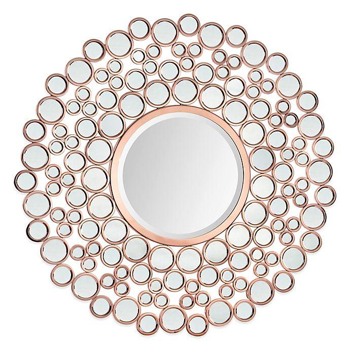 Ren Wil Celeste 42 Inch Round Mirror In Copper