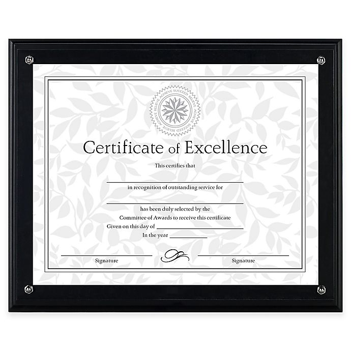 DAX® 8.5-Inch x 11-Inch Award Plaque Frame in Black   Bed Bath & Beyond