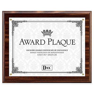 DAX® 8.5-Inch x 11-Inch Award Plaque Frame in Walnut