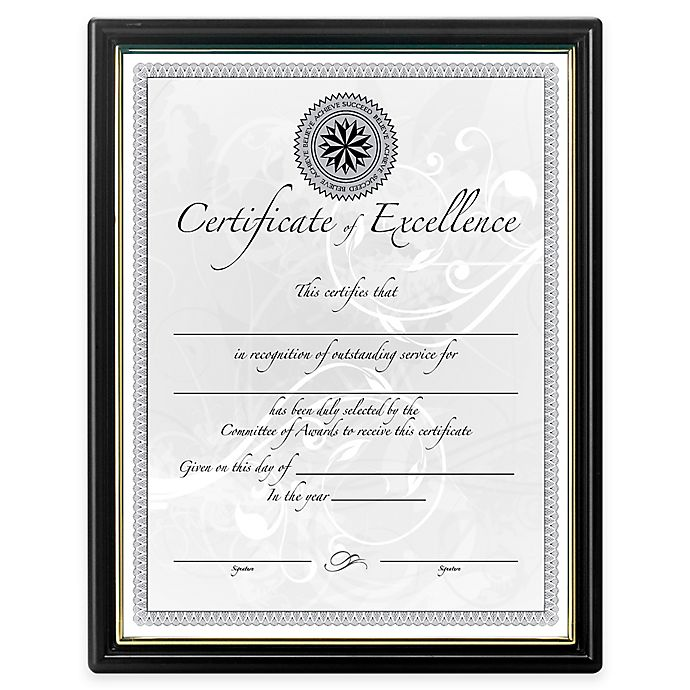 DAX® 8.5-Inch x 11-Inch Wall Document Frames in Black (Set of 18 ...
