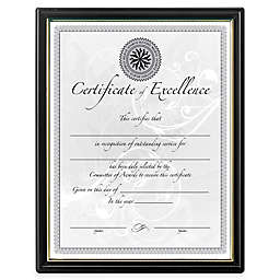 DAX® 8.5-Inch x 11-Inch Wall Document Frames in Black (Set of 18)