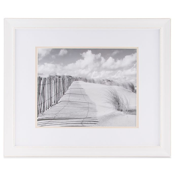 Alternate image 1 for Real Simple® 11-Inch x 14-Inch Distressed Portrait Wall Frame in White