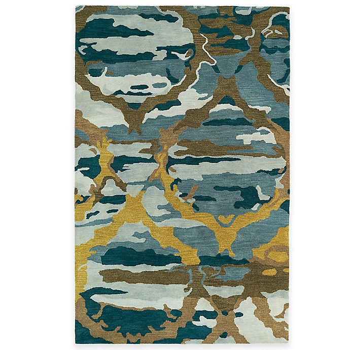 Alternate image 1 for Kaleen Brushstrokes Ikat 5-Foot x 7-Foot 9-Inch Area Rug in Blue
