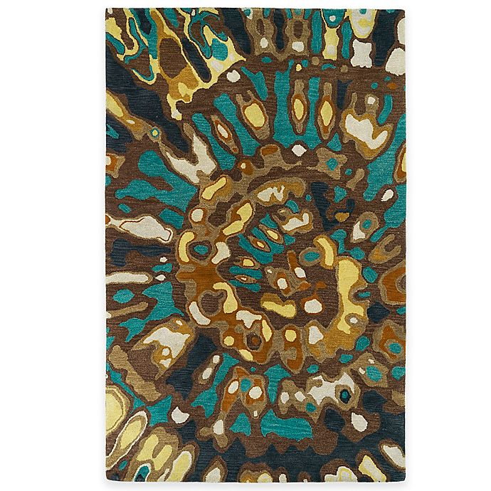 Alternate image 1 for Kaleen Brushstrokes Swirl 5-Foot x 7-Foot 9-Inch Area Rug in Chocolate