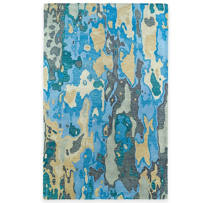 Alternate image 1 for Kaleen Brushstrokes Tribal 2-Foot x 3-Foot Accent Rug in Blue
