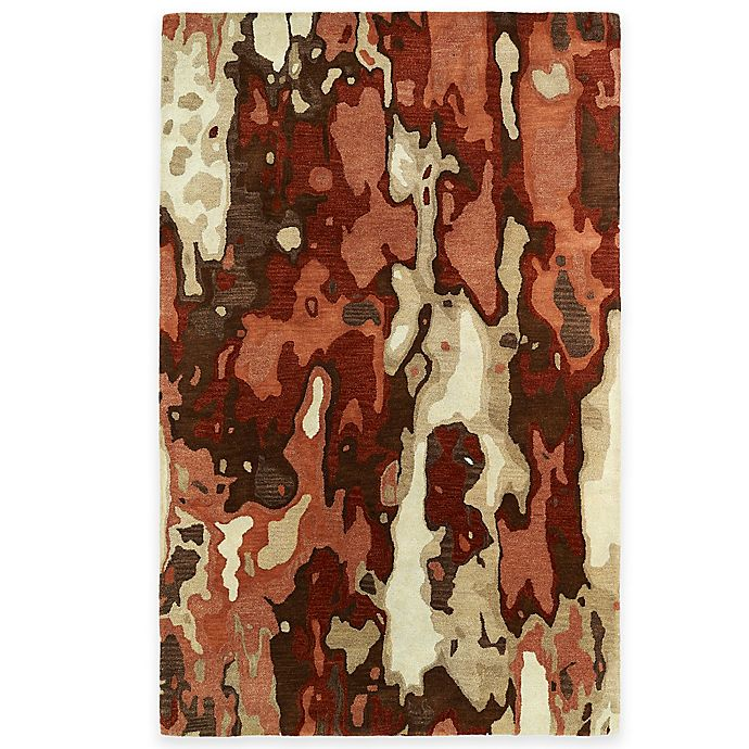 Alternate image 1 for Kaleen Brushstrokes Tribal 5-Foot x 7-Foot 9-Inch Area Rug in Rust