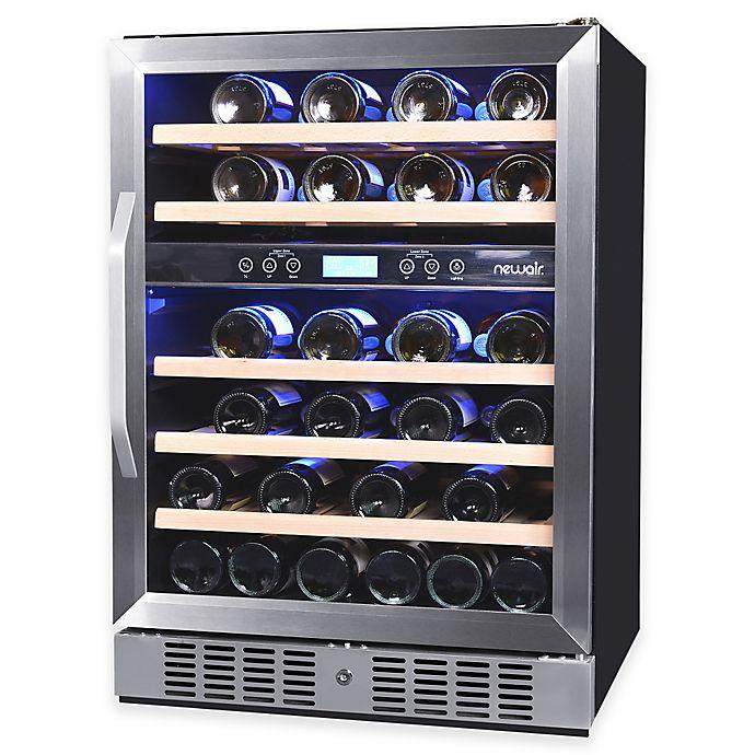 Alternate image 1 for NewAir AWR-460DB 46-Bottle Dual-Zone Built-In Compressor Wine Cooler
