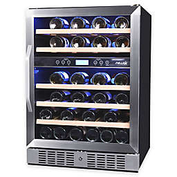 NewAir AWR-460DB 46-Bottle Dual-Zone Built-In Compressor Wine Cooler